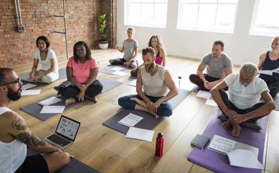 200 Hour Yoga Teacher Training Class in Session at Satya Yoga in Dallas, TX