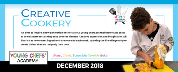 DECEMBER 2018 Young Chefs Academy Classes
