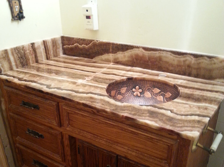 Imperial onyx granite bathroom sink