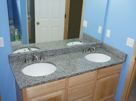 Luna pearl granite bathroom sink