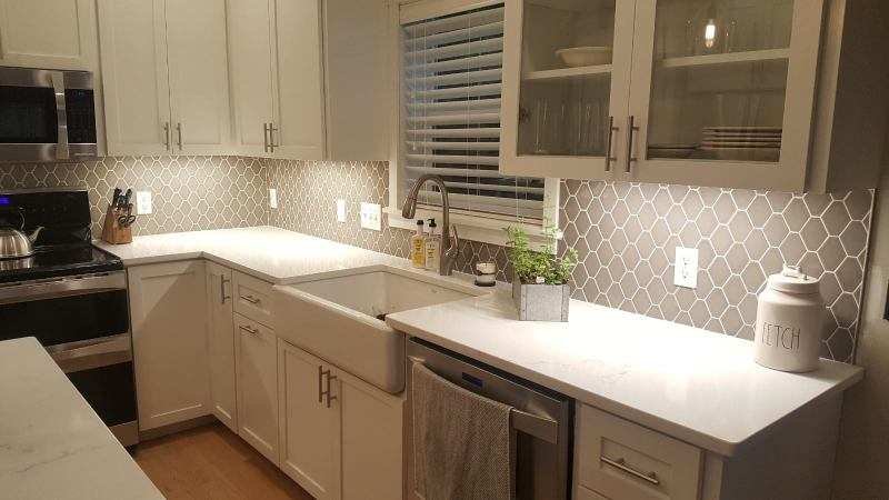 Kitchen Remodel In White Quartz In Farmington Mn