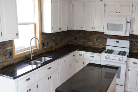 stone tile backsplash