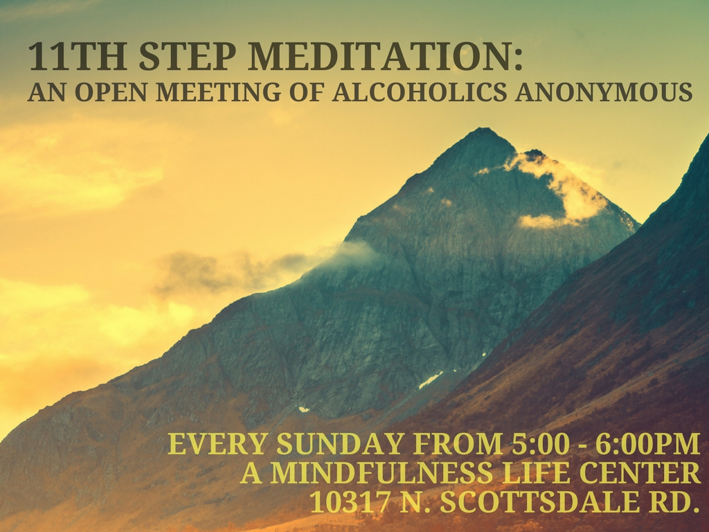11th Step Meditation_An open meeting of Alcoholics Anonymous