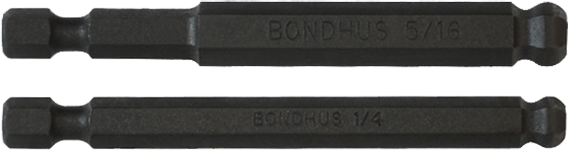 BONDHUS BHX9MM Ballend Hex Power Bit Set 2MM-12MM 10899