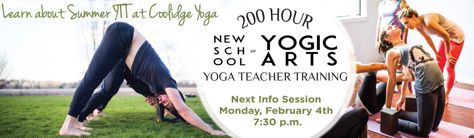 Summer Yoga Teacher Training info Session at Coolidge Yoga