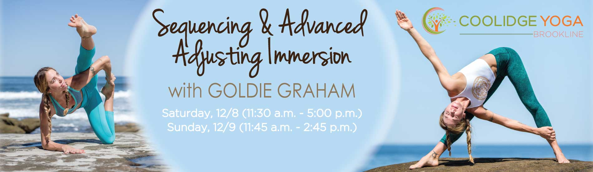 Sequencing & Advanced Adjusting Immersion Yoga Workshop with Goldie Graham at Coolidge Yoga