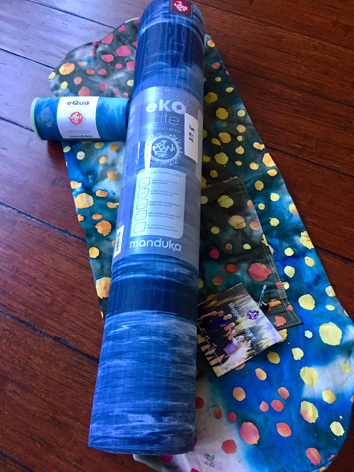 Yoga bundle with mat, carrier bag, and yoga towel at Coolidge Yoga