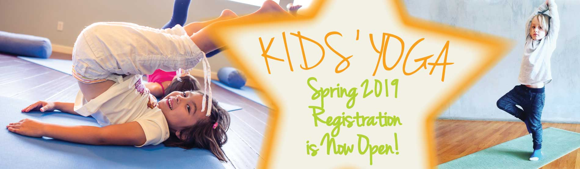 Kids Yoga Spring Registration at Coolidge Yoga