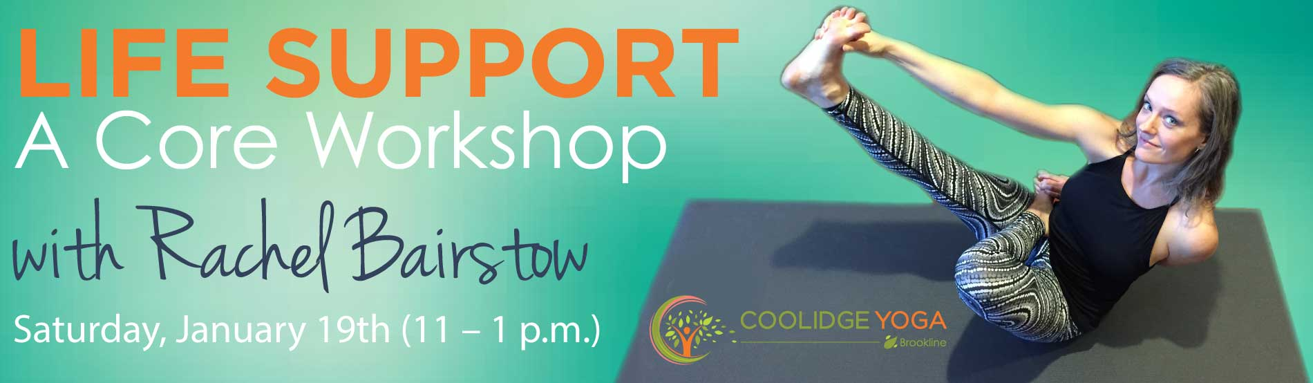 Life Support -  A Core Workshop with Rachel Bairstow at Coolidge Yoga