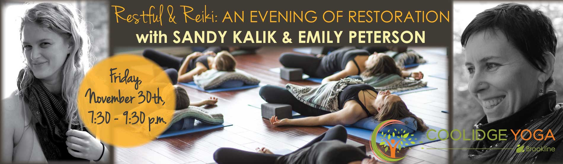 Restful and Reiki at Coolidge Yoga
