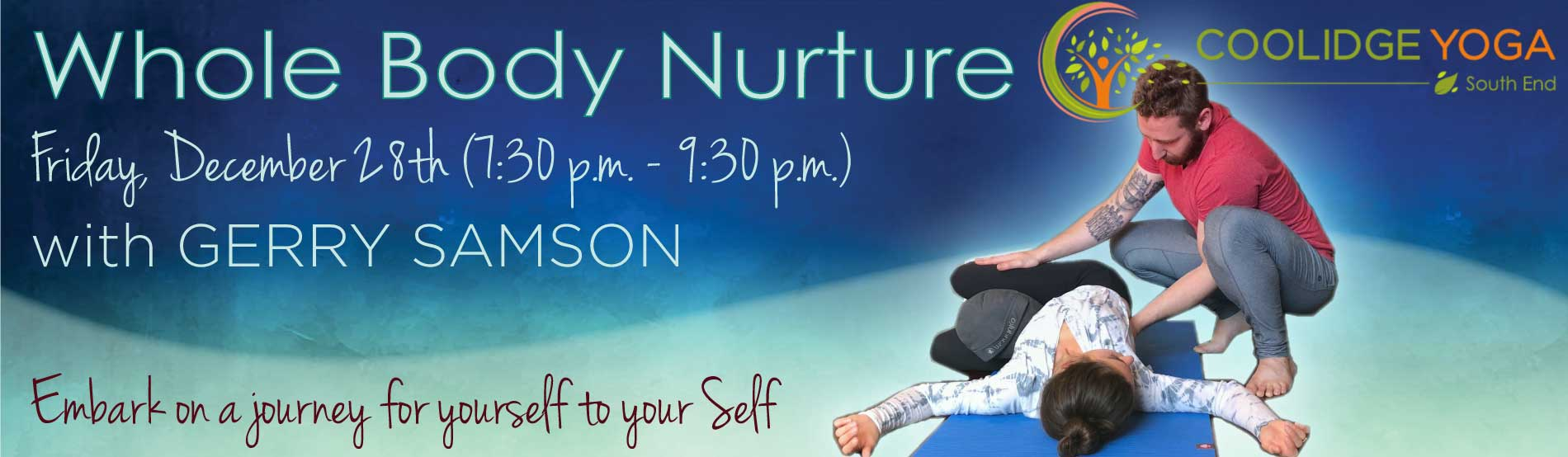 Whole body nurture with Gerard Samson at Coolidge Yoga