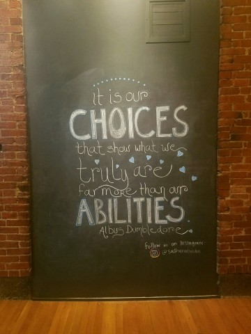 Choices & Abilities Sign at Coolidge Yoga South End
