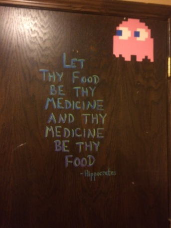 Let Food Be Your Medicine and Thy Medicine Be Thy Food Qoute on Door