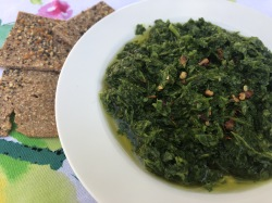 chimichurri with crackers