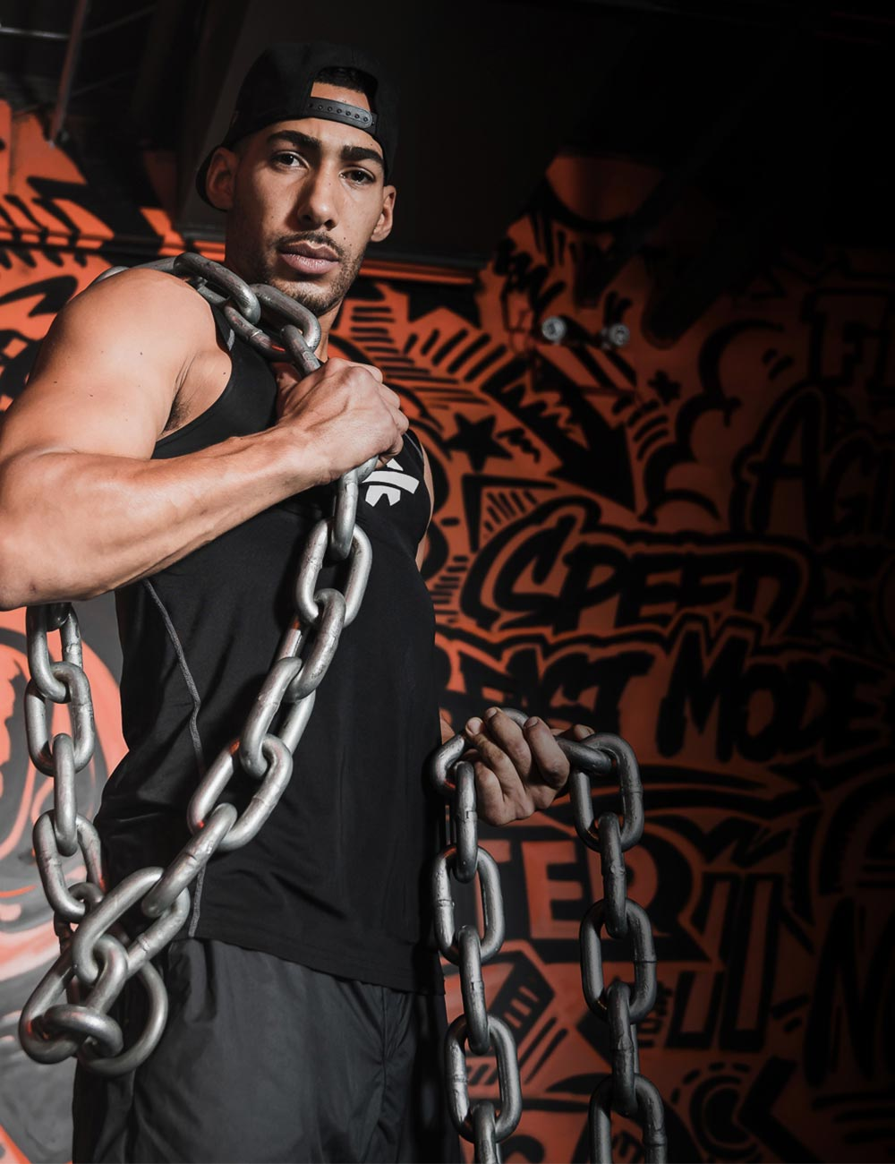 Jeff with chains at Fit Factory Fitness