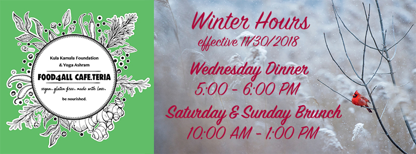 Cafe Winter Hours
