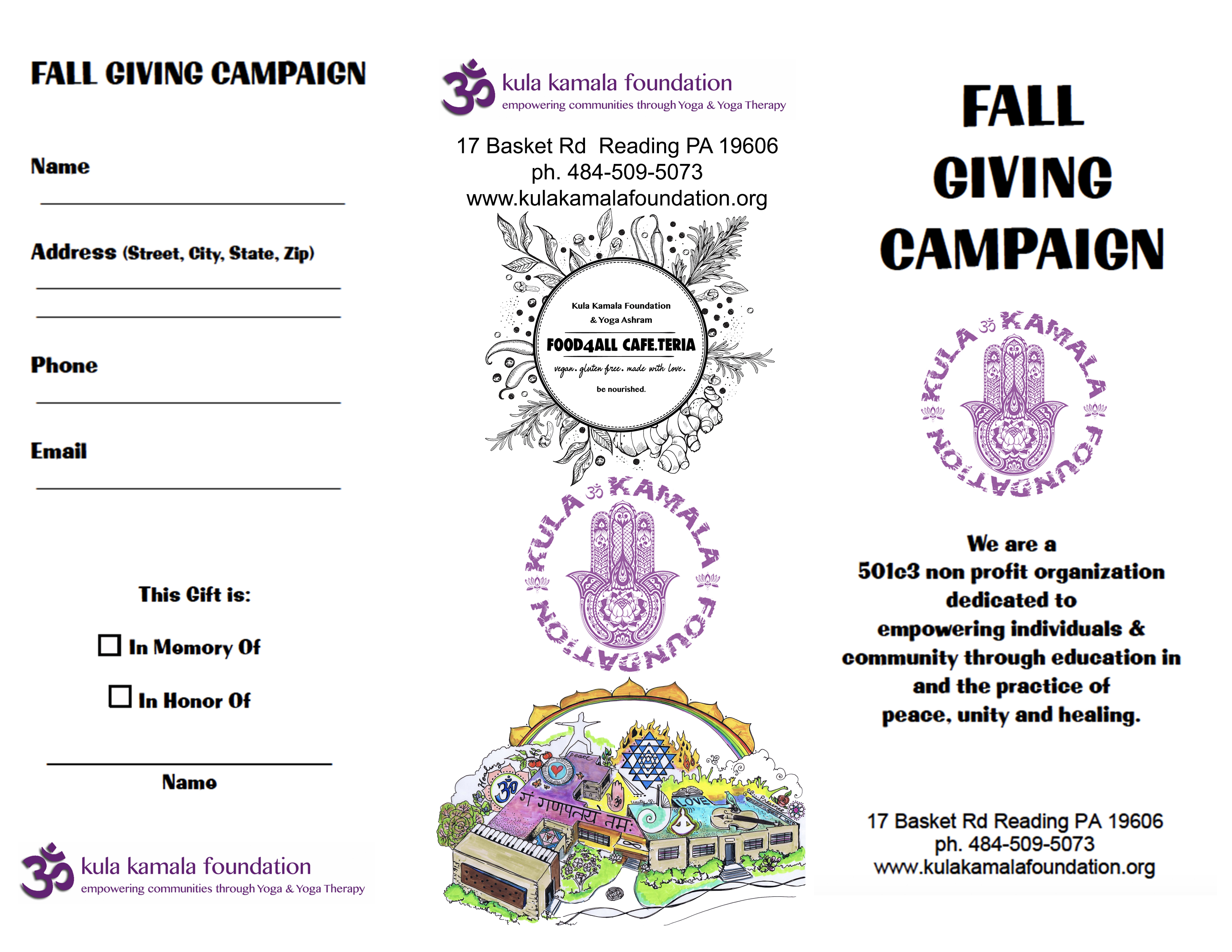 Fall Fundraiser front