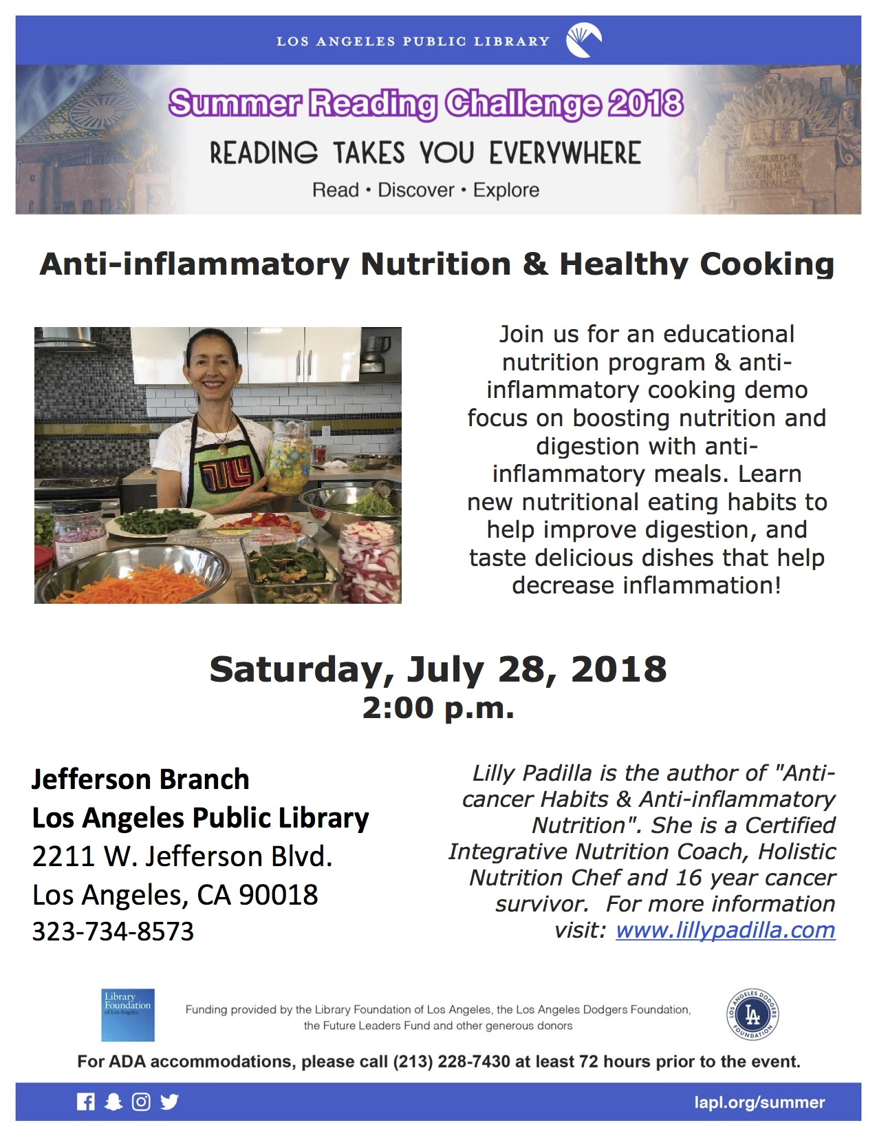 Healthy Cooking JeffersonLibrary