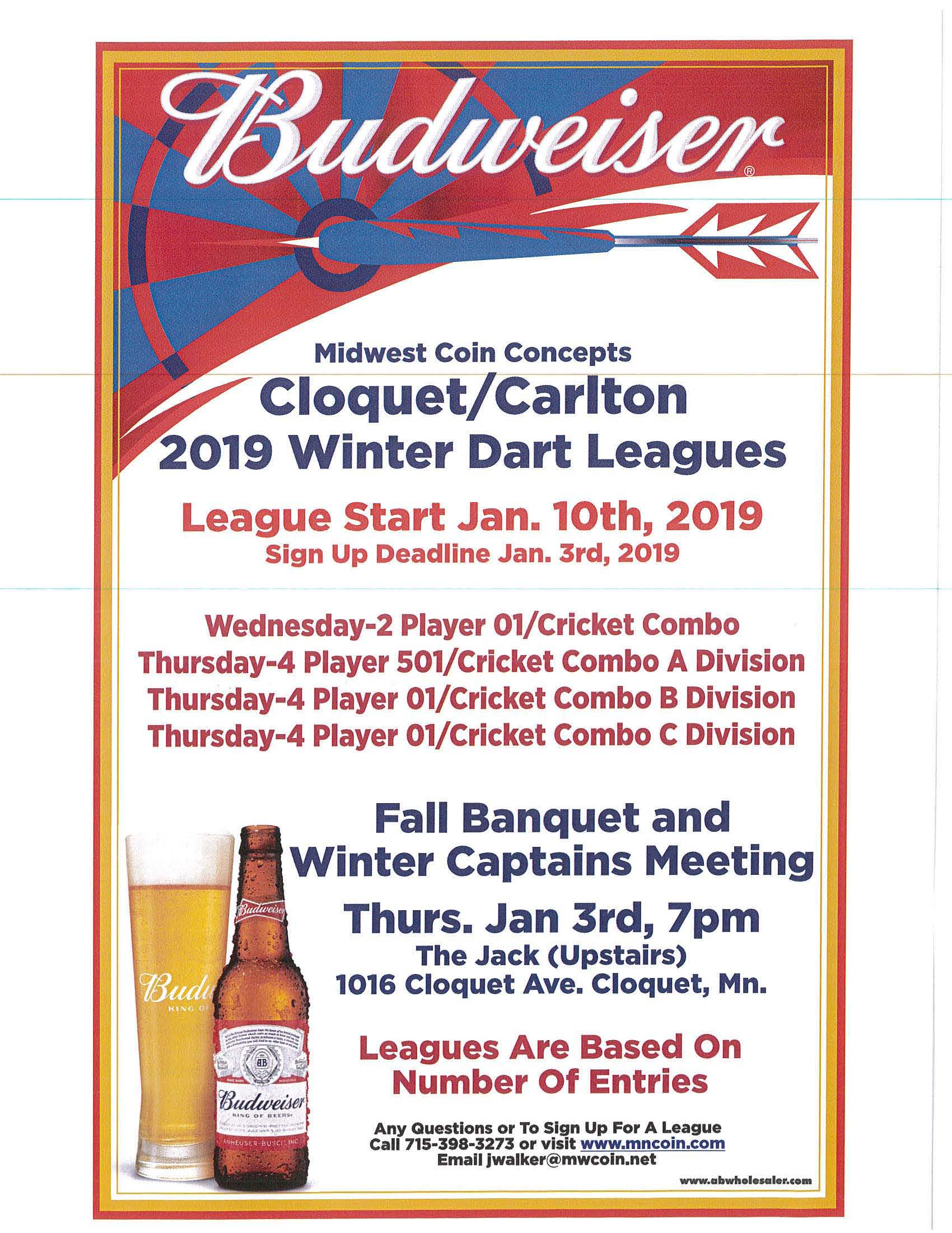 cloquet winter darts