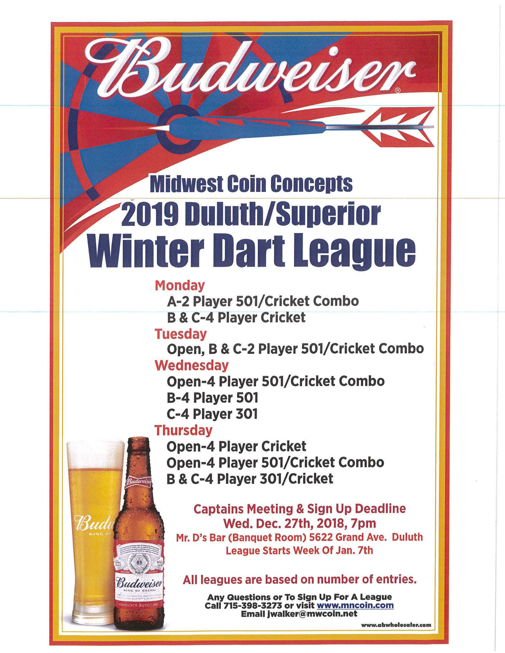 duluth winter darts