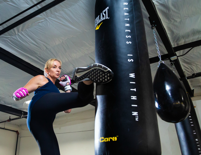 Kickboxing at Paradigm Sport in Santa Cruz, CA