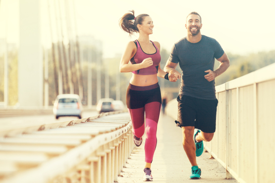 Couple running at Revive Med Spa & Wellness