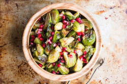 roasted brussels with pom_copy