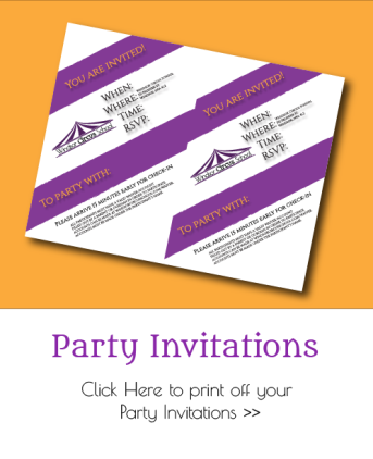 Print Your Own Party Invitations for Windsor Circus School