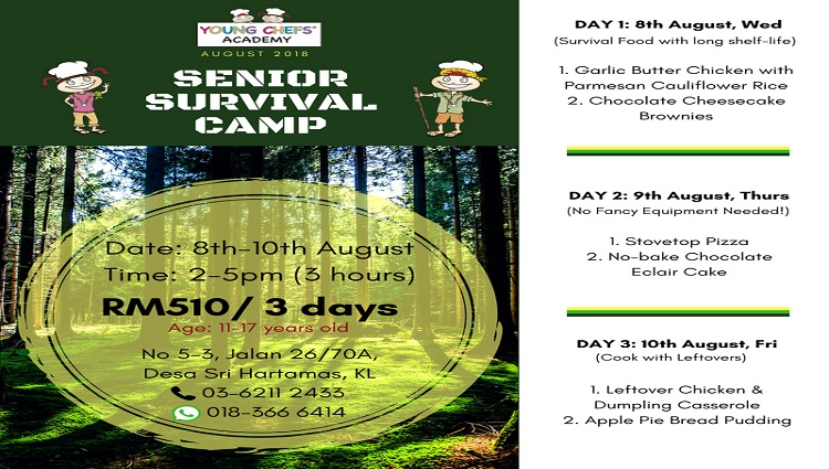 Senior Chef Aug 2018 Survival Camp 2